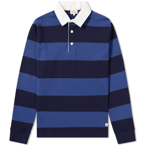 ID6392-Armor Lux Blue & Navy Rugby Shirt