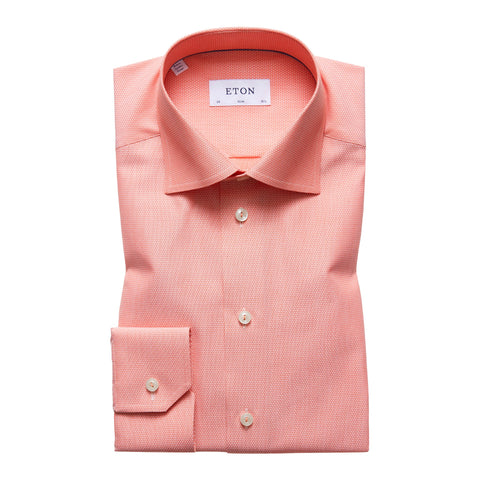 Eton Orange Semi Cutaway Shirt