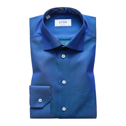 Eton Blue Contemporary Fit Shirt