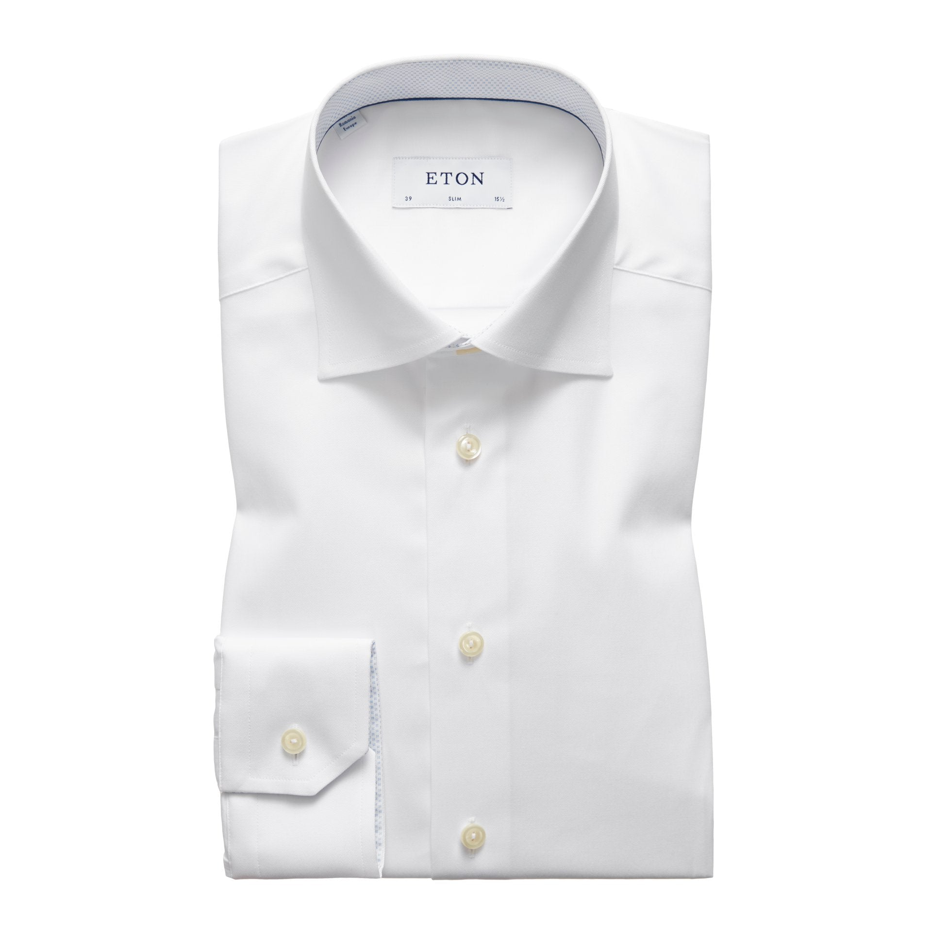Eton White/ Blue Insert Shirt
