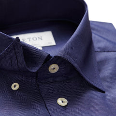 ID5407-Eton Slim Navy Textured Shirt