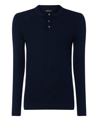 ID8220-Remus Navy Knitted Polo