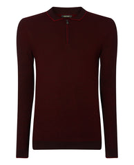 ID8226-Remus Ruby Zip Polo