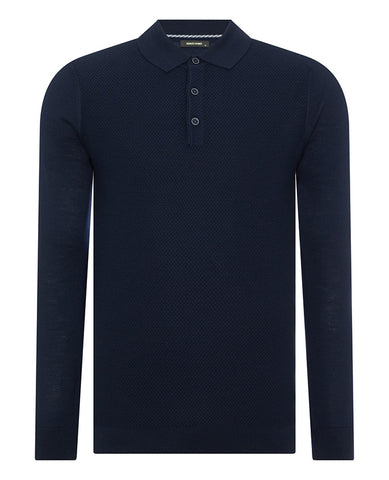 ID20253-Remus Navy Long Sleeve Polo