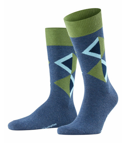 ID 20430 Burlington Denim Green Diamond Sock