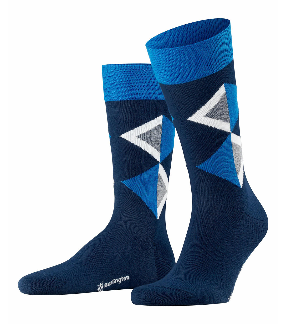ID20431 Burlington Navy Diamond Sock