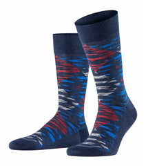 ID20437 Burlington Navy Camo Sock