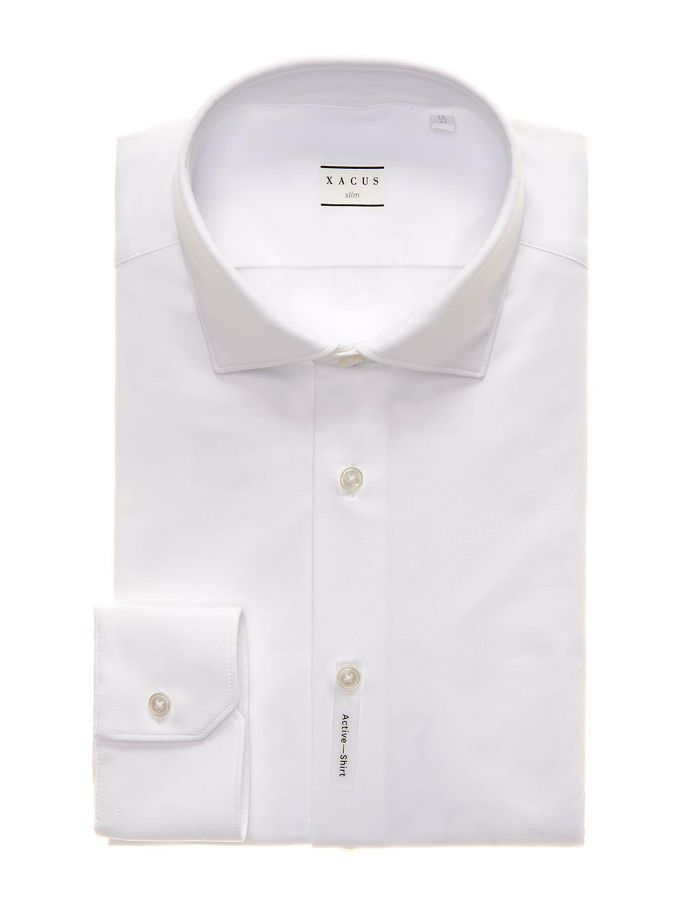 ID8467-Xacus White Active Stretch Shirt