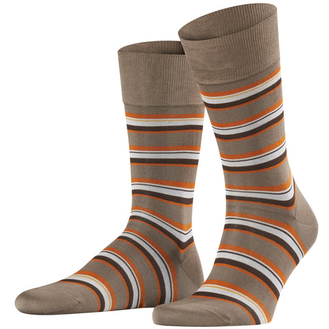 Falke Brown/ Orange Stripe Sock