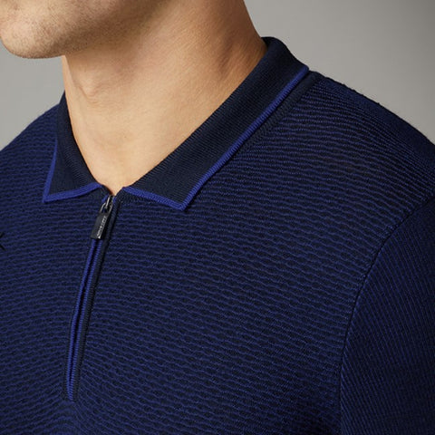 Remus Navy Zip Polo 8225