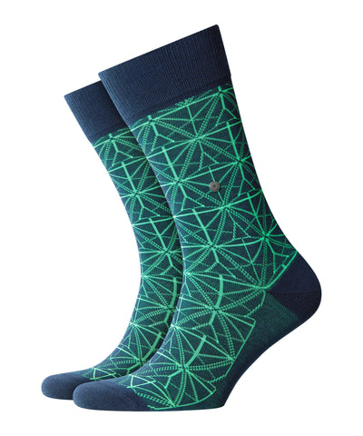 Burlington Geometric Pattern Socks 8557