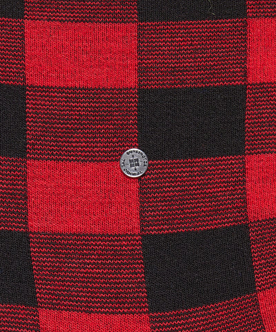Burlington Red Check Sock 8545