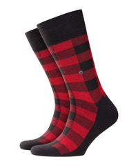 ID8545-Burlington Red Check Sock