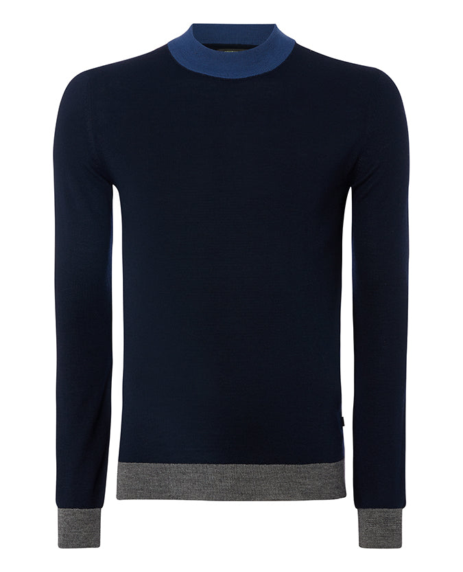 ID8229-Remus Navy Turtle Neck
