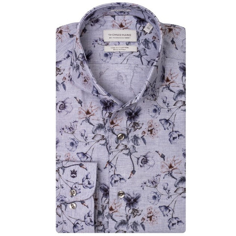 ID8256-Thomas Maine Sky Floral Shirt