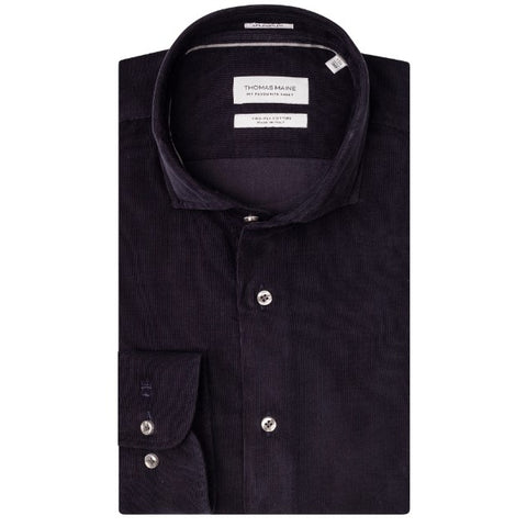 ID8257-Thomas Maine Navy Cord Shirt