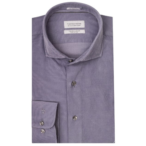 ID8259-Thomas Maine Sky Cord Shirt