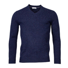 ID8264-Thomas Maine Donegal Indigo V Neck