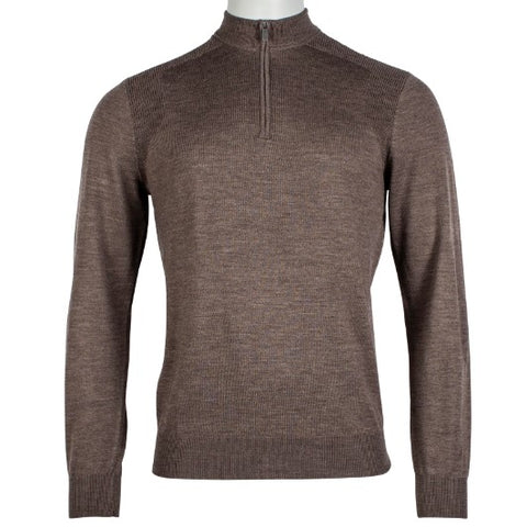 Thomas Maine  Zip Merino Taupe 8271