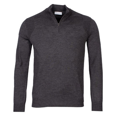 Thomas Maine Zip Merino Grey 8272