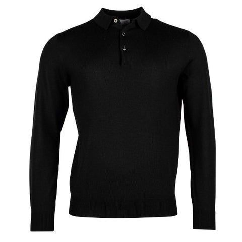 Thomas Maine 3 Button Merino Black 8277