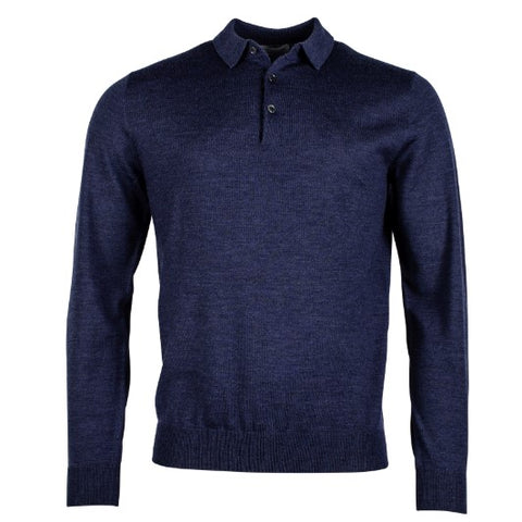 Thomas Maine 3 Button Merino Indigo 8278