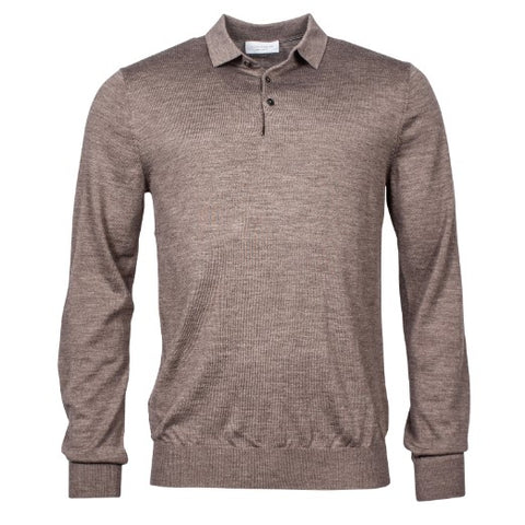 Thomas Maine 3 Button Merino Taupe-8279