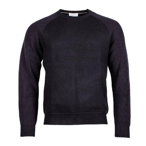 Thomas Maine Navy Boiled Wool Crew 8280