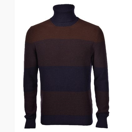 Gran Sasso Blue Brow Roll Neck -8322