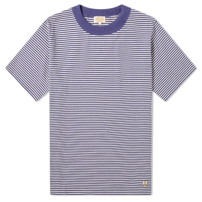 ID8424-Armor Lux Blue White T-Shirt
