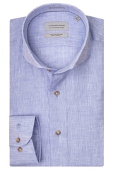 Thomas Maine Airforce Blue Linen Shirt 7343
