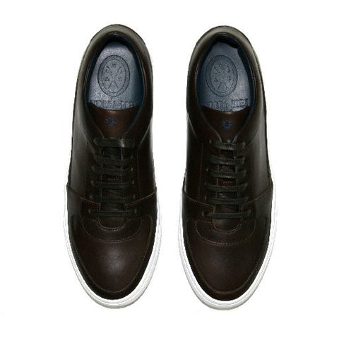 Andrea Zori Brown Leather Trainer 2063 Was £199