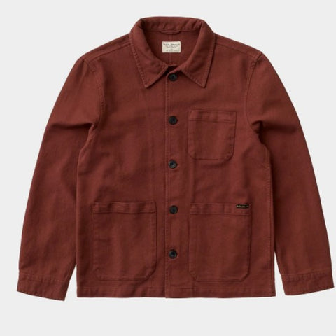 20429 Nudie Barney Worker Shirt Red