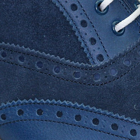 Borgioli Shoe Blue Suede Brogue