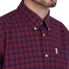 ID20039-Barbour Country Check 14 Shirt Red