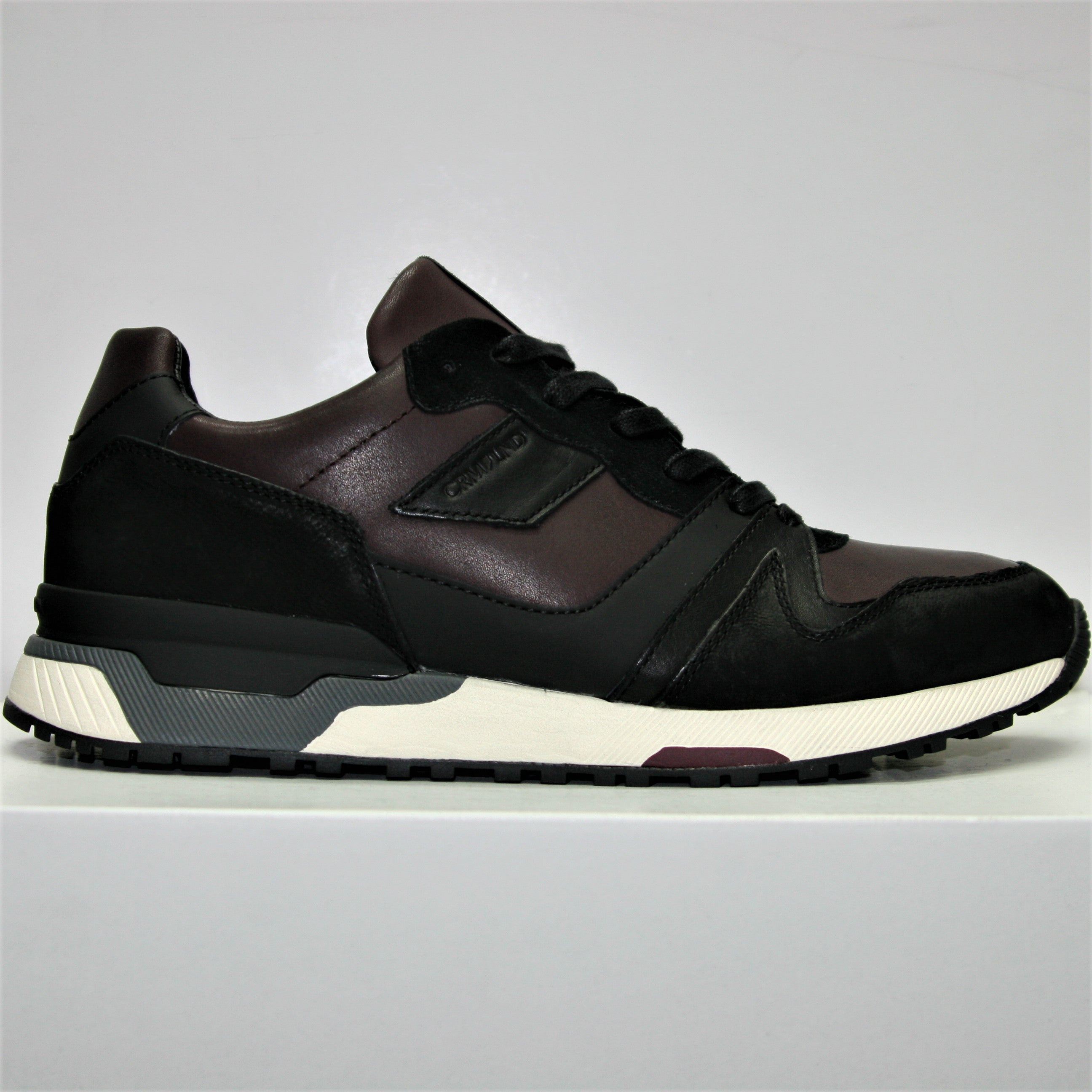 5d8e26fb3521a6 Crime London Escape Burgundy Trainer – Zebra Menswear