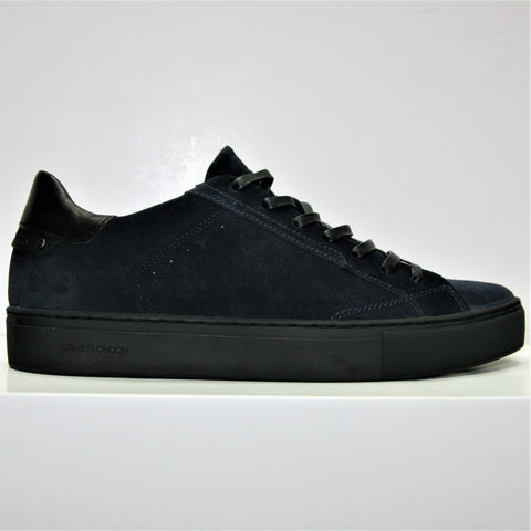 Crime London Navy Suede Trainer 4481 Was £149