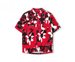 Edwin Red Black Floral Shirt 5038