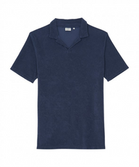 Hartford Towelling Blue Polo-Shirt