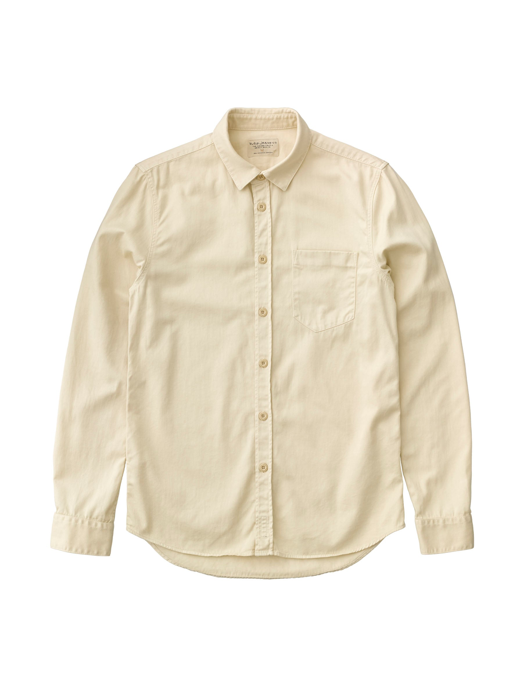 ID8495-Nudie Henry Pigment Dyed Shirt Powder