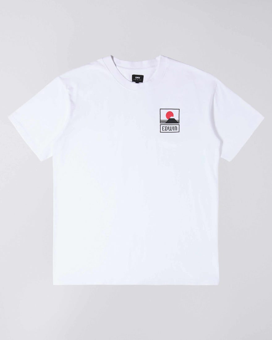 ID6345-Edwin Sunset on Fuji White T-Shirt