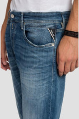 ID10004-Replay Grover Dark Indigo  Super Stretch-