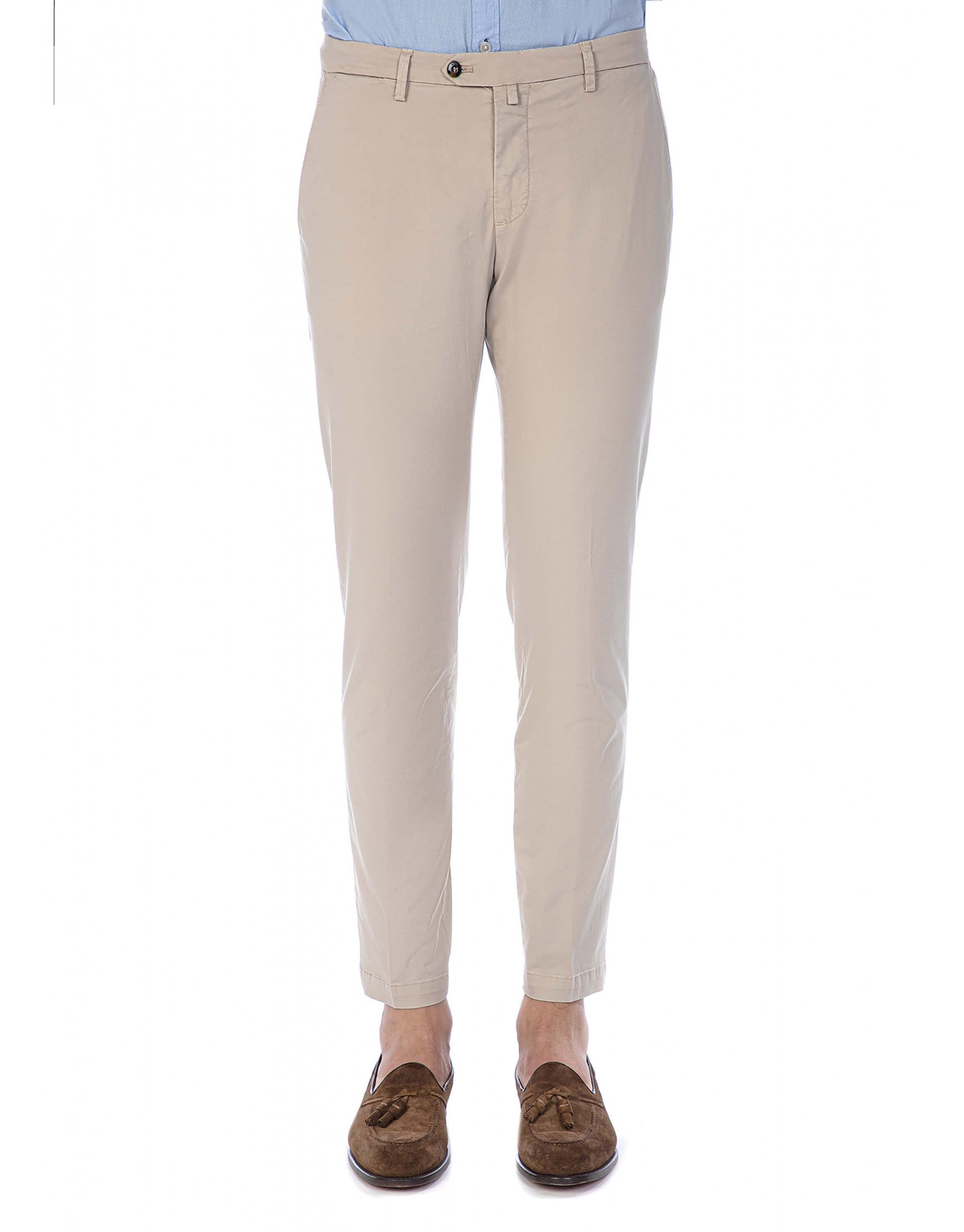 ID10102-Briglia Beige Cotton Trouser