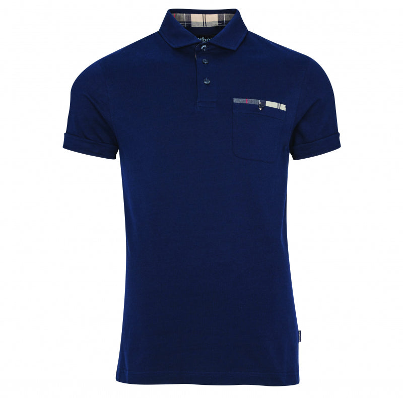 "ID30110-Barbour Navy ""Corpatch"" Polo"