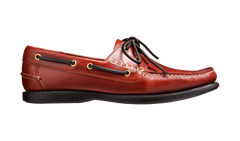 ID7421-Barker Wallace Brown Oil Boat Shoe