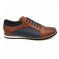 ID8640-Lacuzzo Brown Navy Lattice
