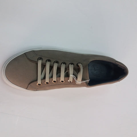 Andrea Zori Taupe Nubuk Leather Trainer-3413