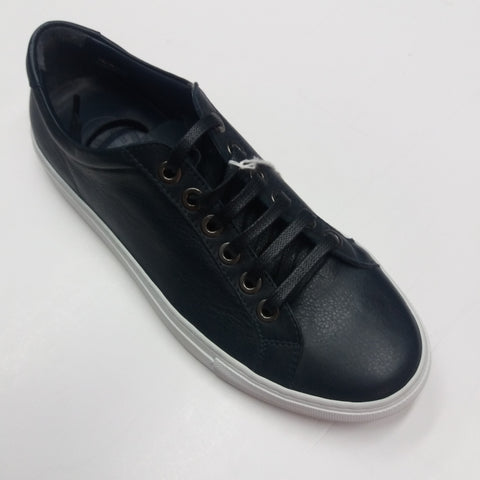 Andrea Zori Navy Leather  Trainer-3414