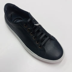 Andrea Zori Navy Leather  Trainer 3414 Was £195