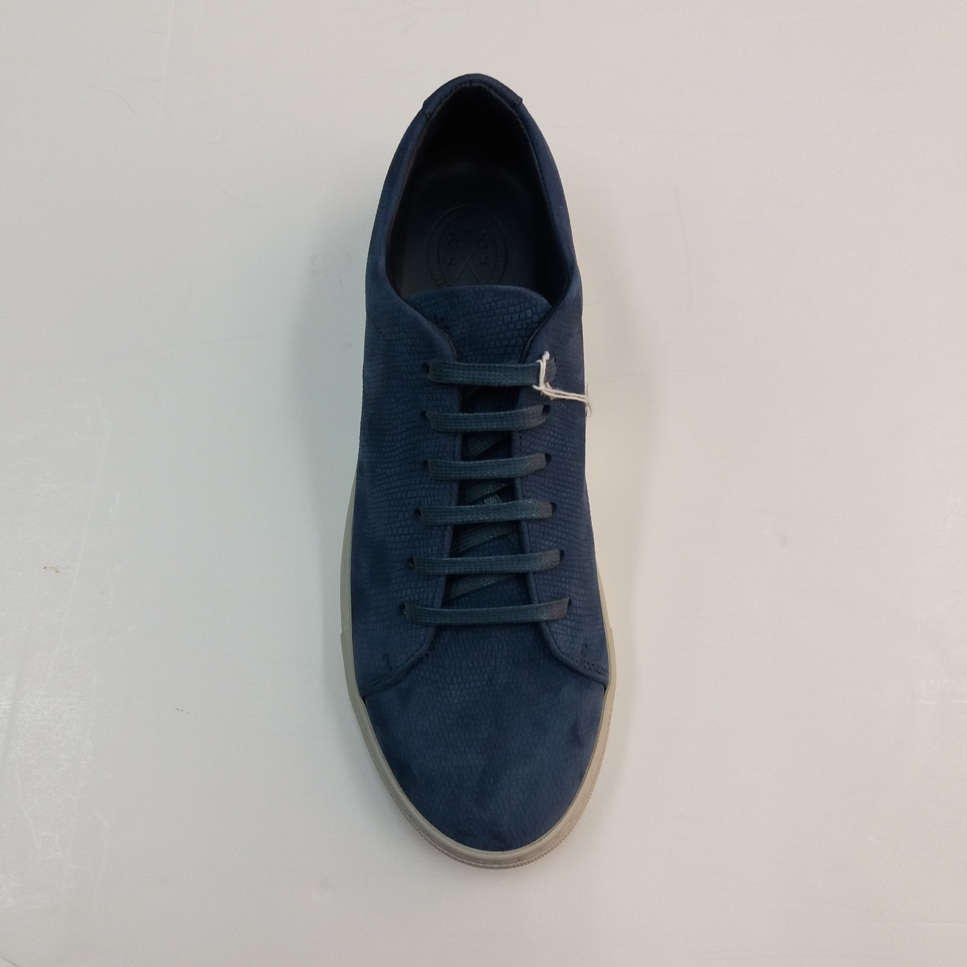 Andrea Zori Sisso Carta Sneakers Blue Lizard Effect.